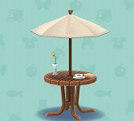 ポケ森 家具まとめ カフェなパラソルテーブル