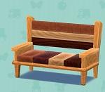 ポケ森 家具まとめ ミックスウッドのベンチ