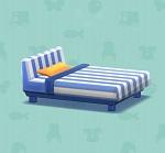 ポケ森 家具まとめ ストライプなベッド