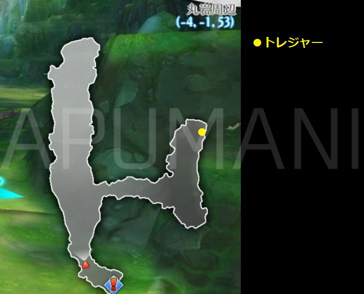 【アルスト】丸岩周辺│トレジャー(宝箱)の場所【画像・座標・レシピ】